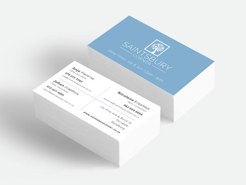 Saintsbury Business Card